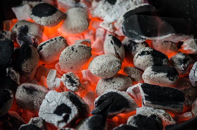 uhlí na gril