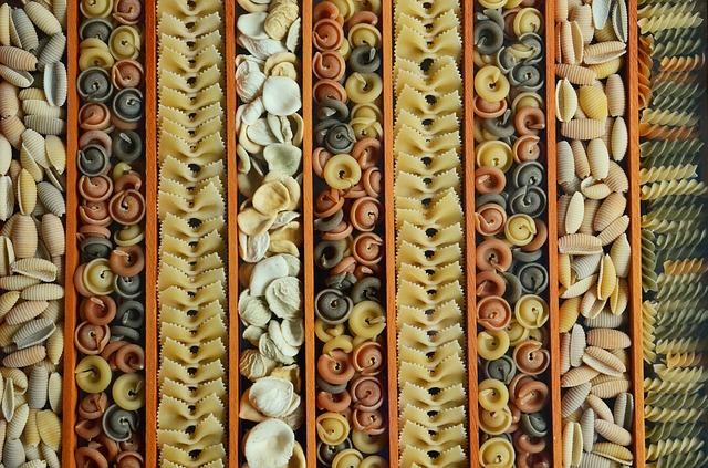 výroba barevných těstovin
