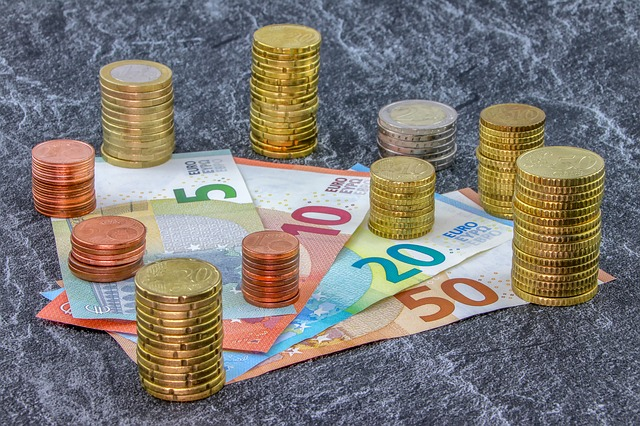 evropská měna, mince, bankovky